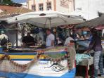 fisherman and restaurants at the village Alvor