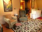 sitting kitchen area plus washer & dryer