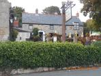 The Buddle Inn half a mile away