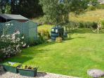 extensive back garden