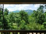 View of Chimney Rock Mountain from deck