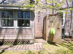 Enclosed Outdoor Shower - 265 Chatham Road Harwich Cape Cod New England Vacation Rentals