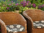 Comfortable outdoor seating areas