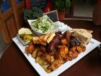 Cypriot food is scrumptious! Try a meze or meze platter. You'll need a nap afterwards!