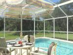 Secluded heated pool with views on to the conservation area