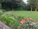 Large flat garden for all to enjoy