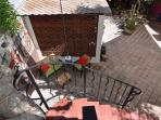 Casita patio from above