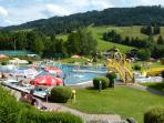 Pool, leisure facilities & sports bar at nearby Maria Alm