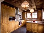 The modern and well equipped at Chalet Alouette