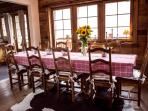 Dining table at Chalet Alouette - plenty of space at dinner