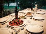 Outside dining in Puglian style
