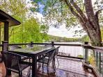 Lakefront home, Arcade, hot tub, swim-fish-boat