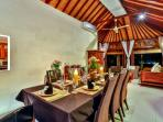 3 bedroom villa dinning room table for 10