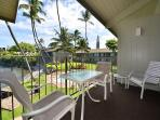 Lanai-view toward Heated Pool and BBQs