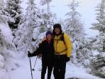 Winter Snowshoe trek up Pitchoff Mtn. - Cascade Lakes area.