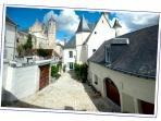 Day sight over Maison de l'Argentier du roy, and the Royal Chateau of Loches, where was Joan of Arch