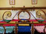 19th century wrought iron bed frame.
