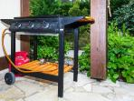 Large gas Grill-Plancha Barbecue, safe and easy to use. No smoke or bad odors. Available on request.