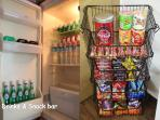 Drinks and snack bar