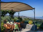 Gazebo with a stunning vista of the Taormina's gulf