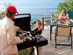 Grill on Pool Deck