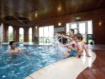 INDOOR SWIMMING  POOL  AND SAUNA  --   FREE OF CHARGE
