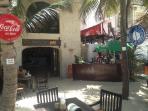 Bambu beach bars next to the condo