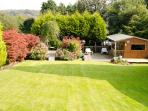 Back Garden with summer house