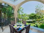 Private balcony with outdoor dining