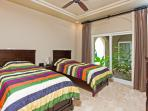 Guest bedroom with two twin beds