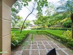 Semi private garden area