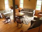 Carriage House living room, meeting space or yoga studio. Your choice