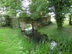 Stream at end of garden