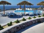 The swimming pool area.