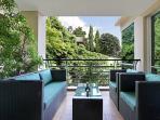 The main balcony has both jungle & sea views