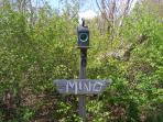 Fleming-Mino Teepee Entrance sign