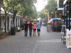 enjoy shopping and dining in Baytowne Wharf 5 minutes walk from the condo