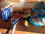 Tennis rackets and balls!