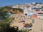Stunning Carvoeiro beach and village within three km of Casa Yasamina