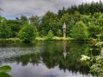 Rapunzel's tower overlooking Orroland Loch