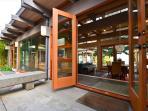 Glass door entrance!