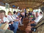 Guests on the house boat, run for the back water cruise...