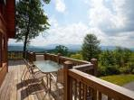Enjoy breakfast on the deck and enjoy the view