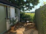 Private terrace with uninterrupted views to the Isle of Wight.