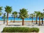 The promenade and beach.