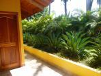 room entrance & tropical garden