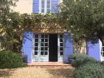 Farmhouse entree with grapevine