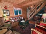 Alpine Living Room looking towards stairs