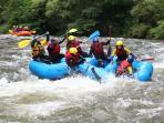 Some of our guests white water rafting at Axat, a near by area