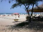 Several beach shacks serve fresh fish and cool drinks on Cavelossim Beach - a 5 minute stroll away